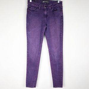 Levis 535 Leggings 7M Purple Distressed Stretch